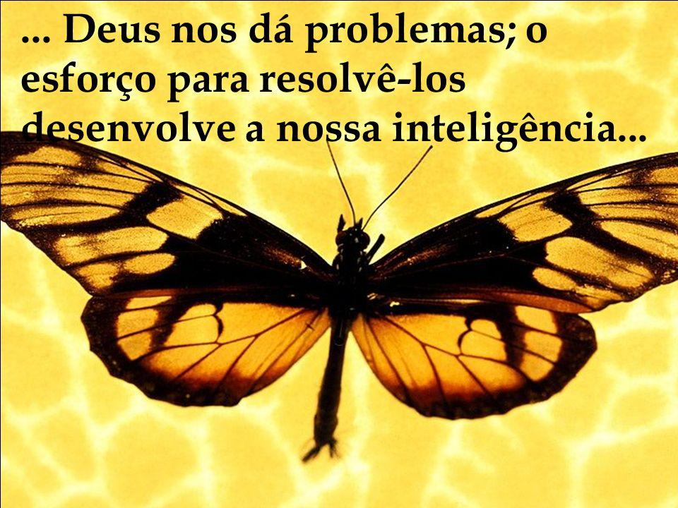... Deus nos dá problemas; o esforço para resolvê-los desenvolve a nossa inteligência...