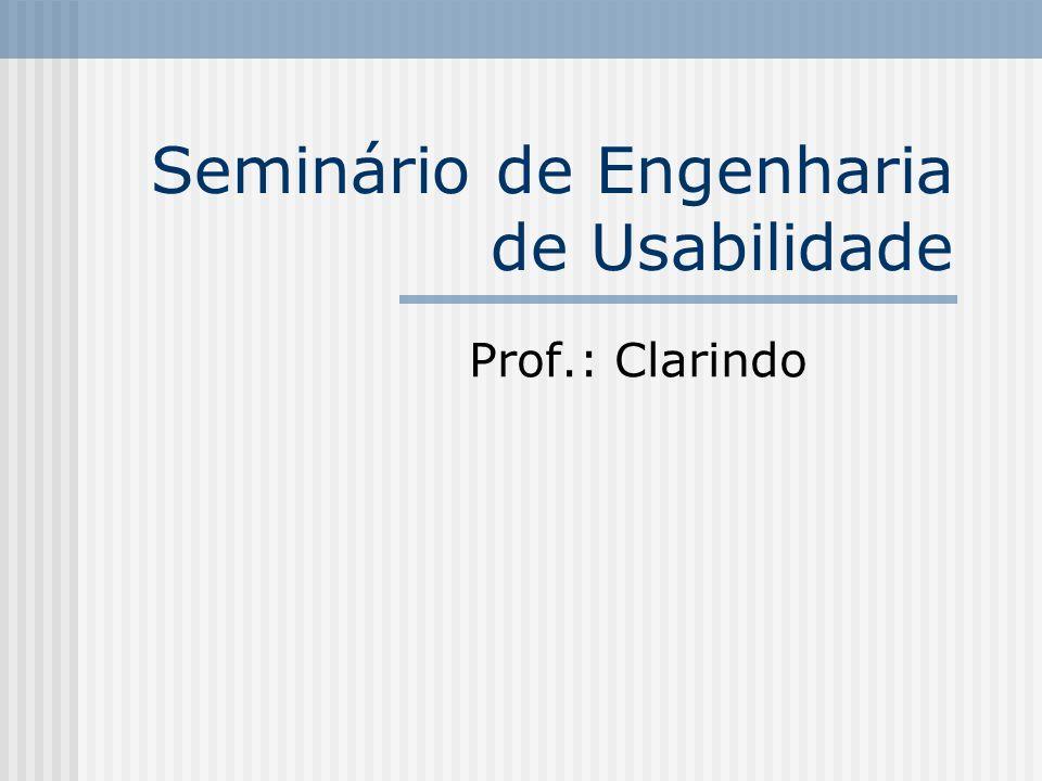Seminário de Engenharia de Usabilidade