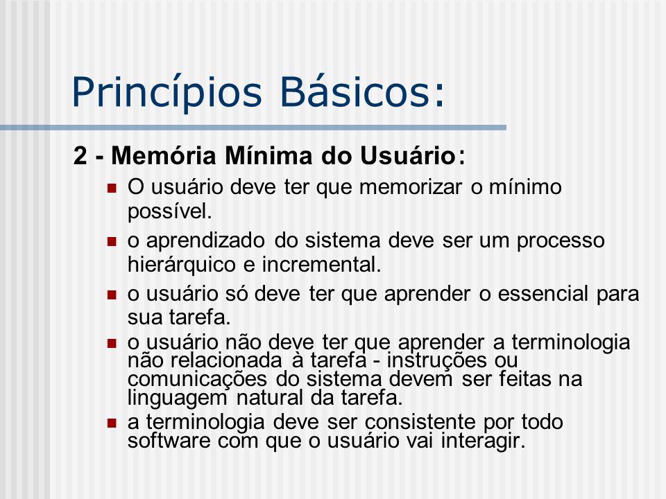 Princípios Básicos: 2 - Memória Mínima do Usuário: