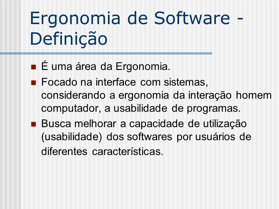 Ergonomia de Software - Definição