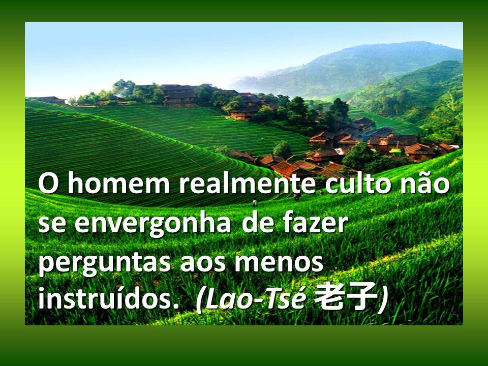 O homem realmente culto não se envergonha de fazer perguntas aos menos instruídos. (Lao-Tsé 老子)