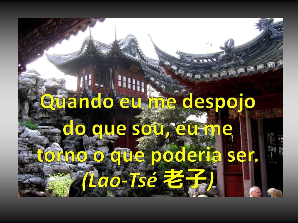 Quando eu me despojo do que sou, eu me torno o que poderia ser. (Lao-Tsé 老子)
