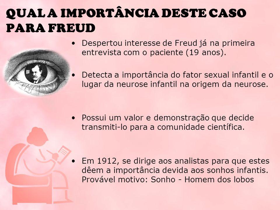 QUAL A IMPORTÂNCIA DESTE CASO PARA FREUD