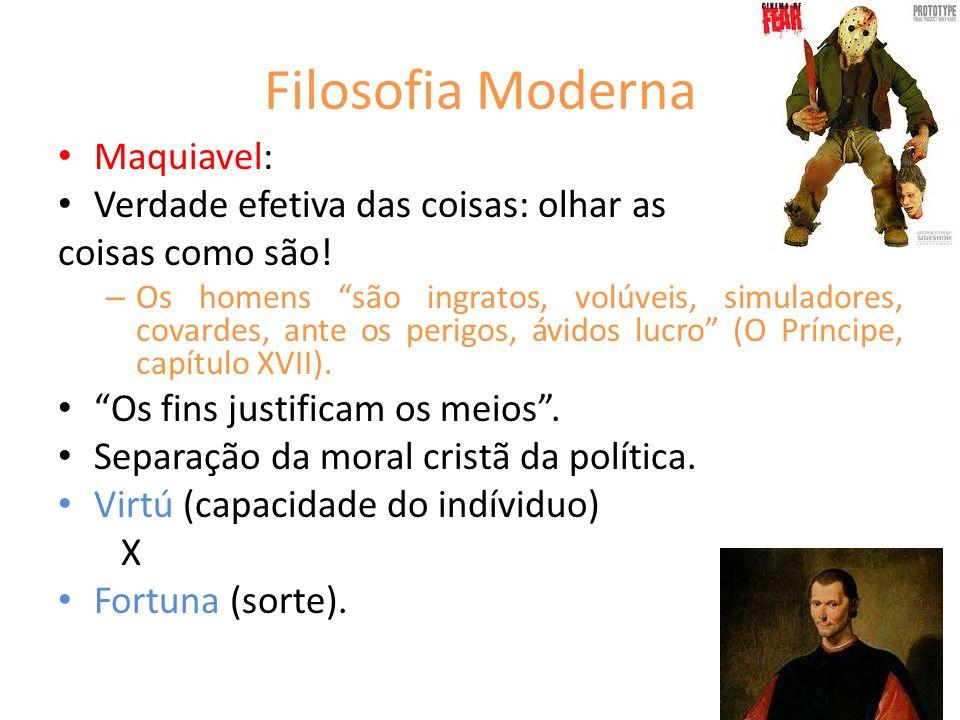 Filosofia Moderna Maquiavel: Verdade efetiva das coisas: olhar as