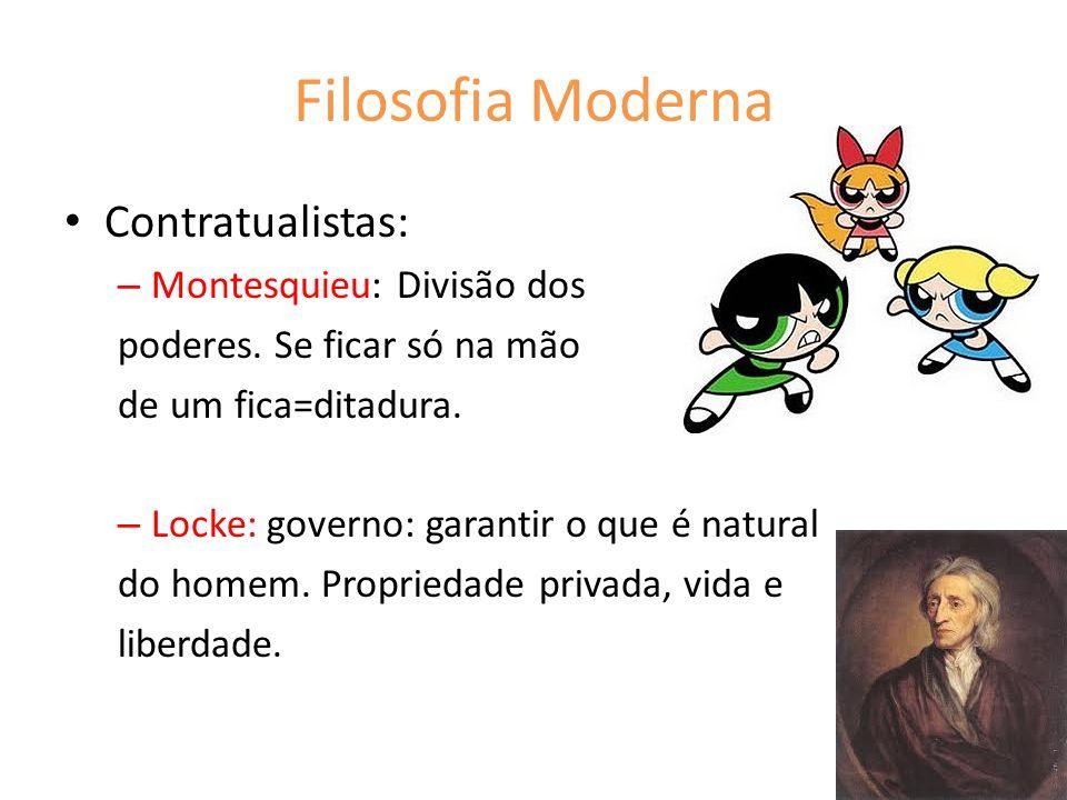 Filosofia Moderna Contratualistas: Montesquieu: Divisão dos