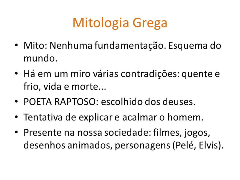 Mitologia Grega Mito: Nenhuma fundamentação. Esquema do mundo.