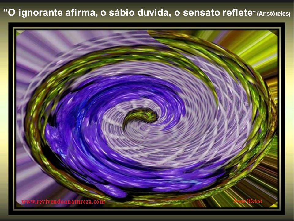 O ignorante afirma, o sábio duvida, o sensato reflete (Aristóteles)