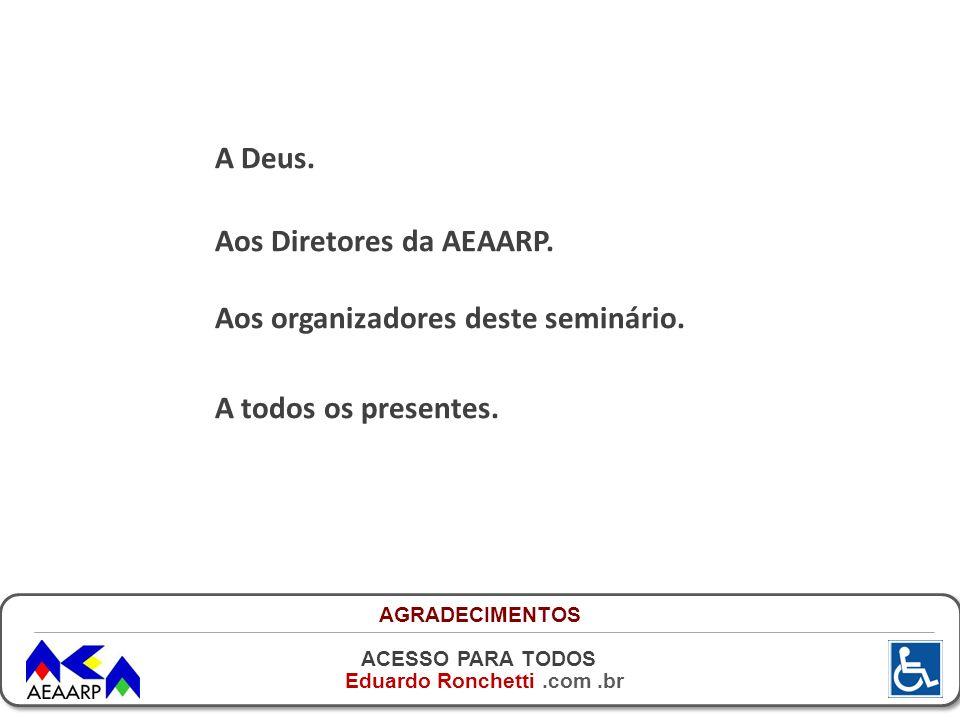 Aos Diretores da AEAARP. Aos organizadores deste seminário.