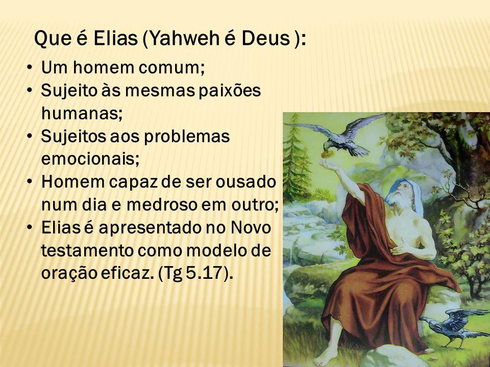 Que é Elias (Yahweh é Deus ):