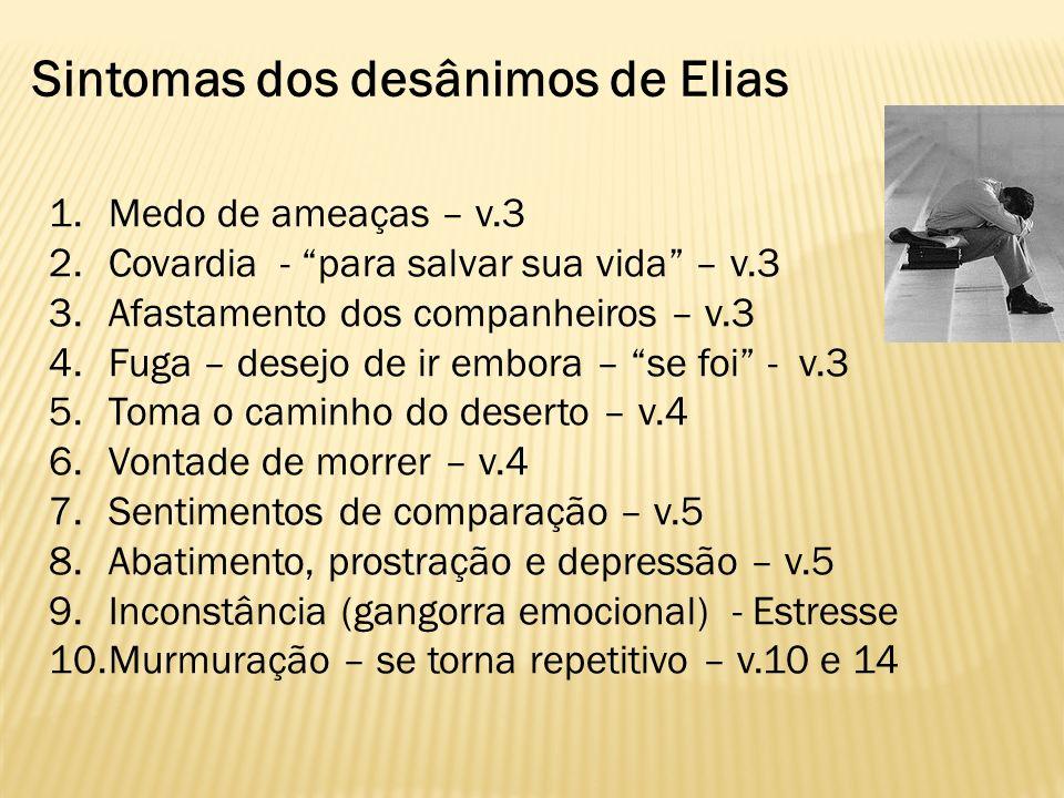 Sintomas dos desânimos de Elias