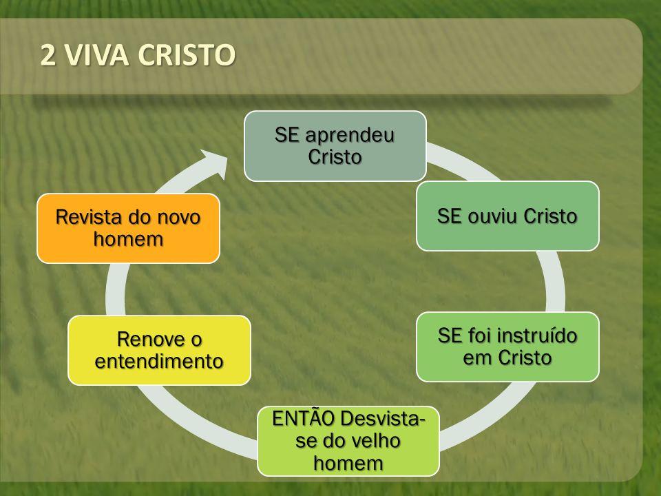 2 VIVA CRISTO SE aprendeu Cristo SE ouviu Cristo Revista do novo homem