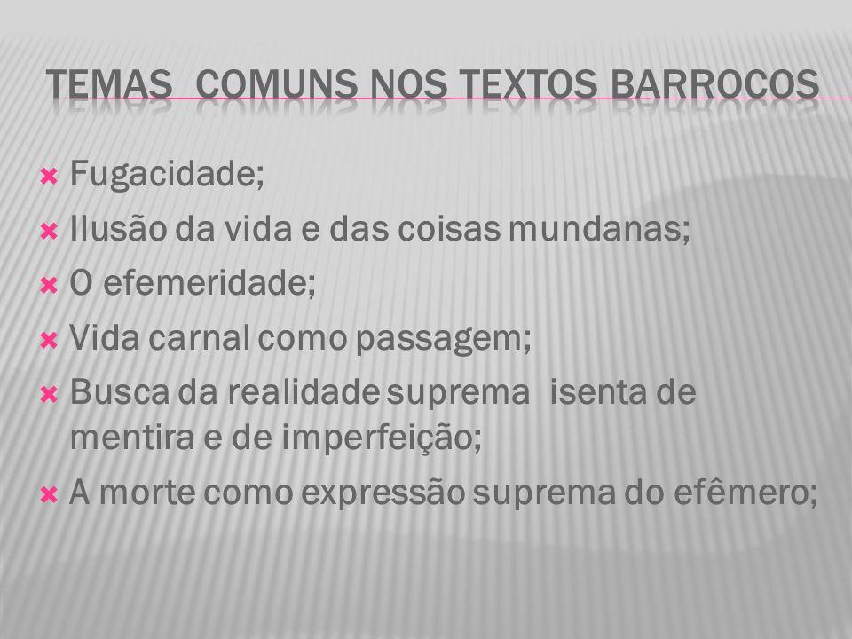 Temas comuns nos textos barrocos