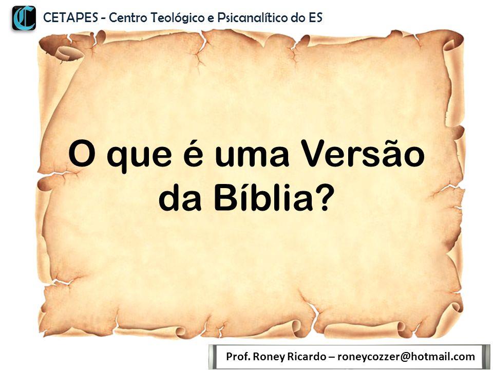 O que é uma Versão da Bíblia