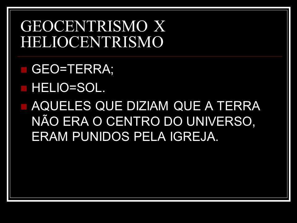 GEOCENTRISMO X HELIOCENTRISMO