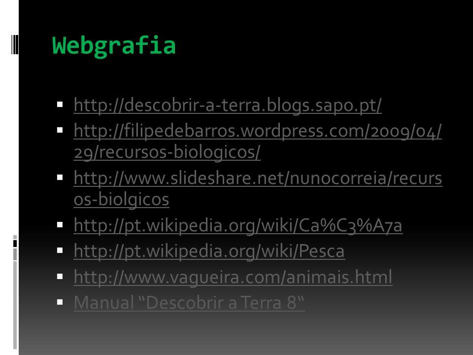 Webgrafia http://descobrir-a-terra.blogs.sapo.pt/