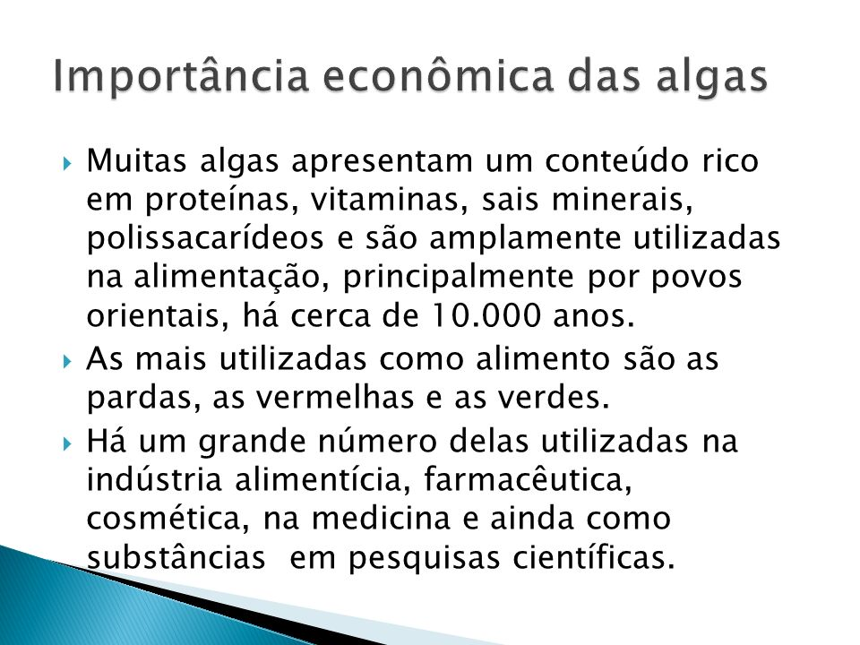 Importância econômica das algas