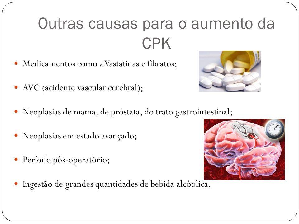 Outras causas para o aumento da CPK