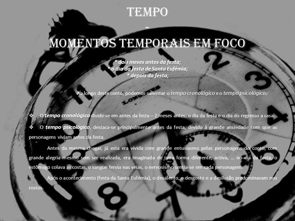 TEMPO - momentos temporais em foco