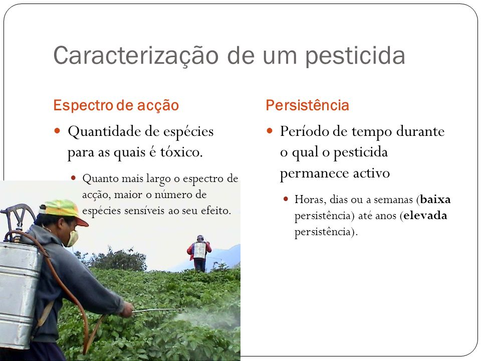 Caracterização de um pesticida
