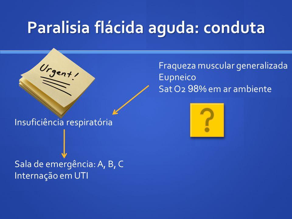 Paralisia flácida aguda: conduta