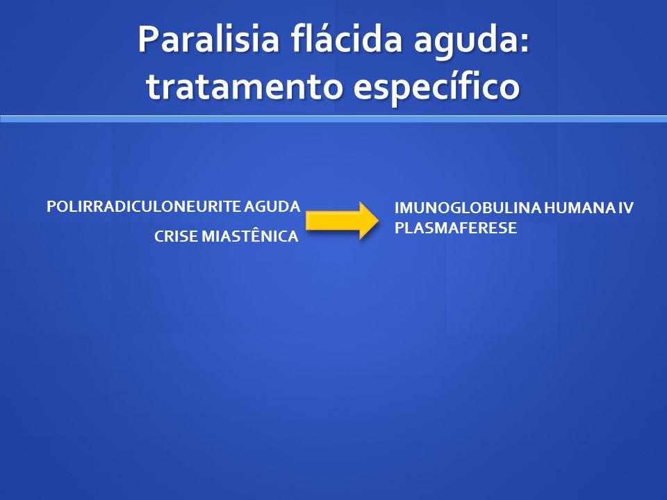 Paralisia flácida aguda: tratamento específico