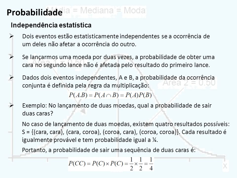 Probabilidade Independência estatística