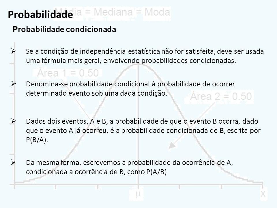 Probabilidade Probabilidade condicionada