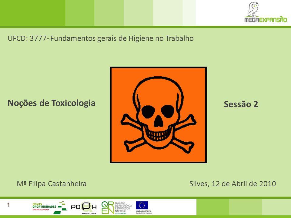 Noções de Toxicologia Sessão 2