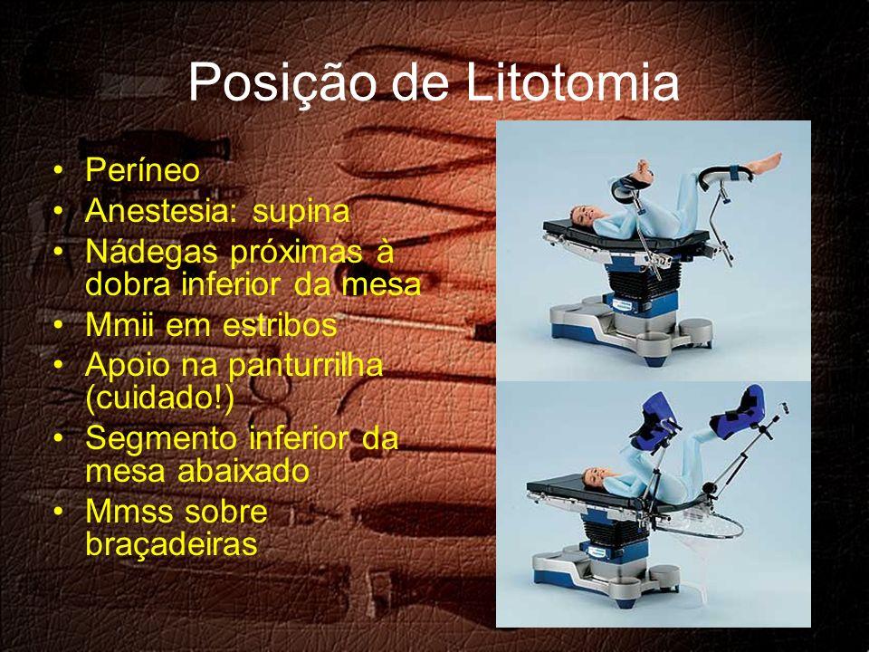 Posição de Litotomia Períneo Anestesia: supina
