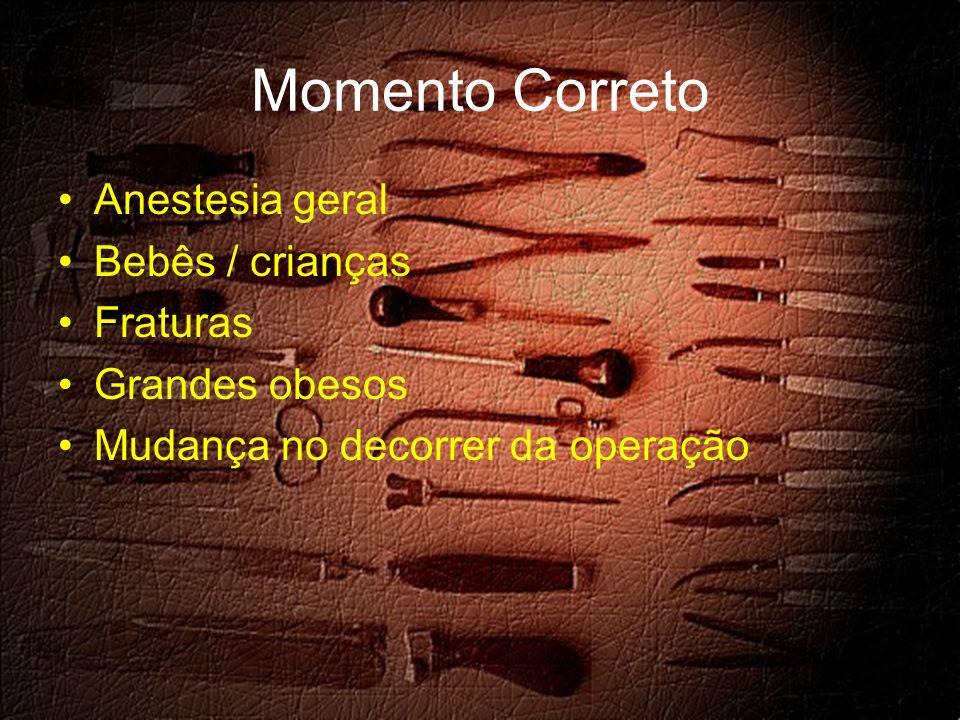 Momento Correto Anestesia geral Bebês / crianças Fraturas