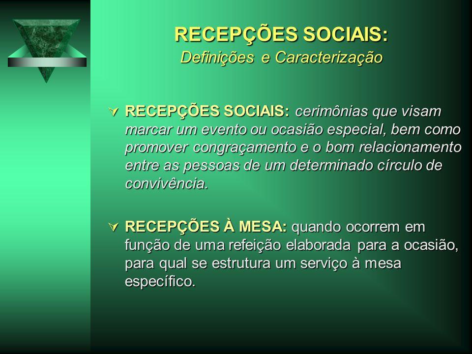 RECEPÇÕES SOCIAIS: Definições e Caracterização
