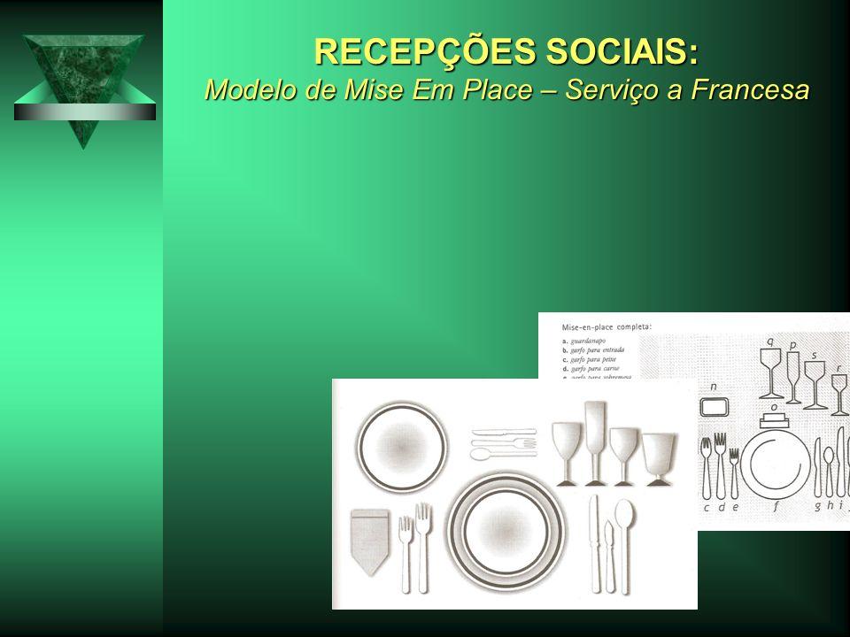 RECEPÇÕES SOCIAIS: Modelo de Mise Em Place – Serviço a Francesa