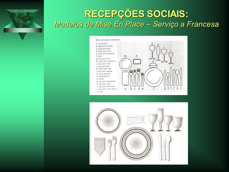 RECEPÇÕES SOCIAIS: Modelos de Mise En Place – Serviço a Francesa