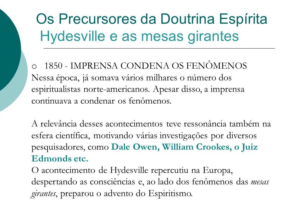 Os Precursores da Doutrina Espírita Hydesville e as mesas girantes