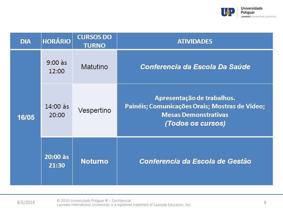 Conferencia da Escola Da Saúde