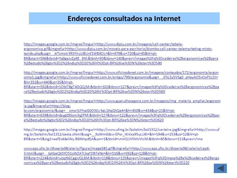 Endereços consultados na Internet