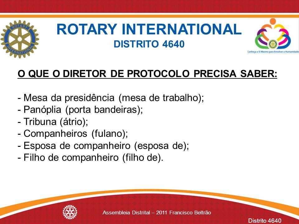 Assembleia Distrital – 2011 Francisco Beltrão