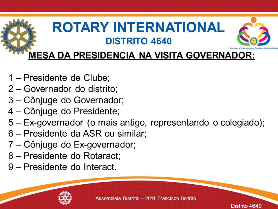 MESA DA PRESIDENCIA NA VISITA GOVERNADOR: