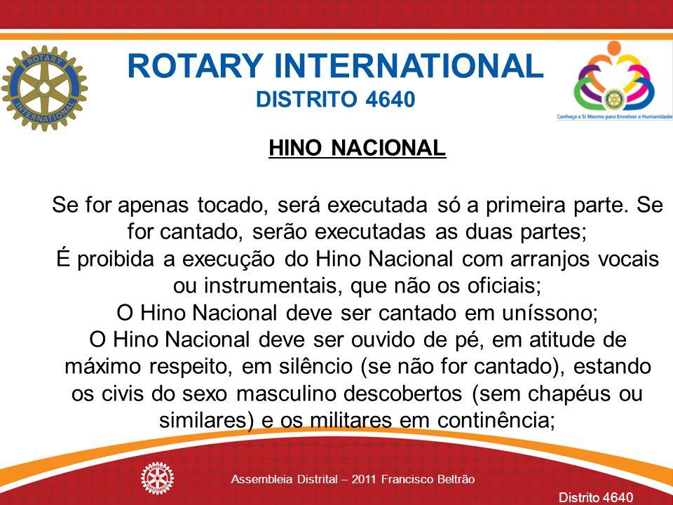 ROTARY INTERNATIONAL DISTRITO 4640 HINO NACIONAL