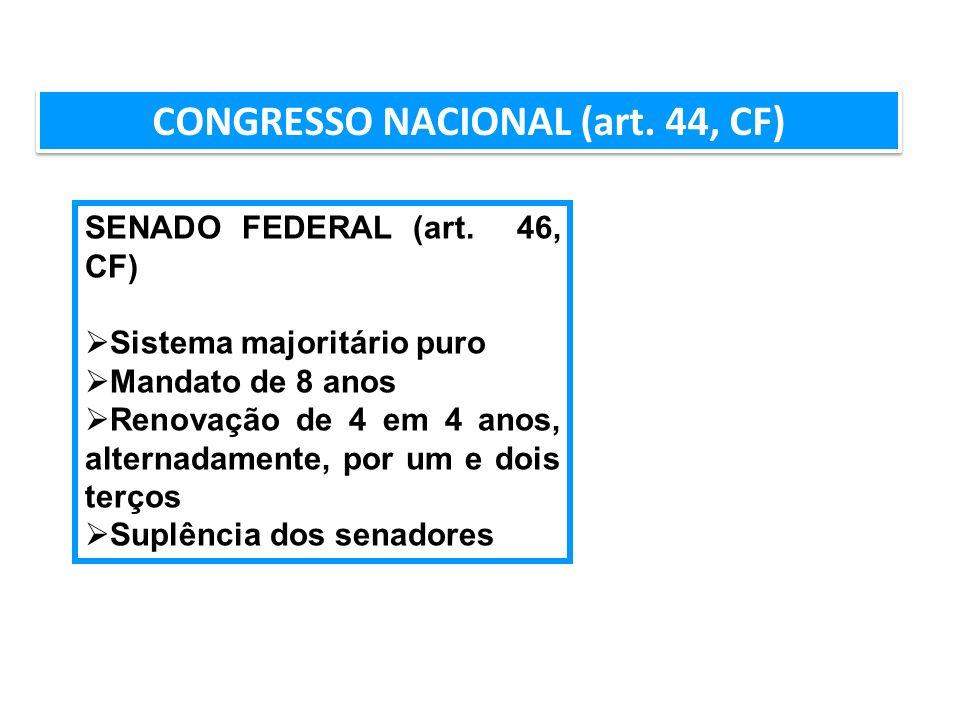 CONGRESSO NACIONAL (art. 44, CF)