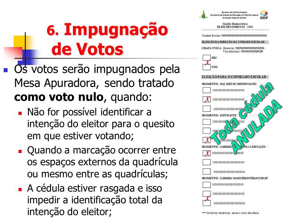 Toda cédula ANULADA 6. Impugnação de Votos
