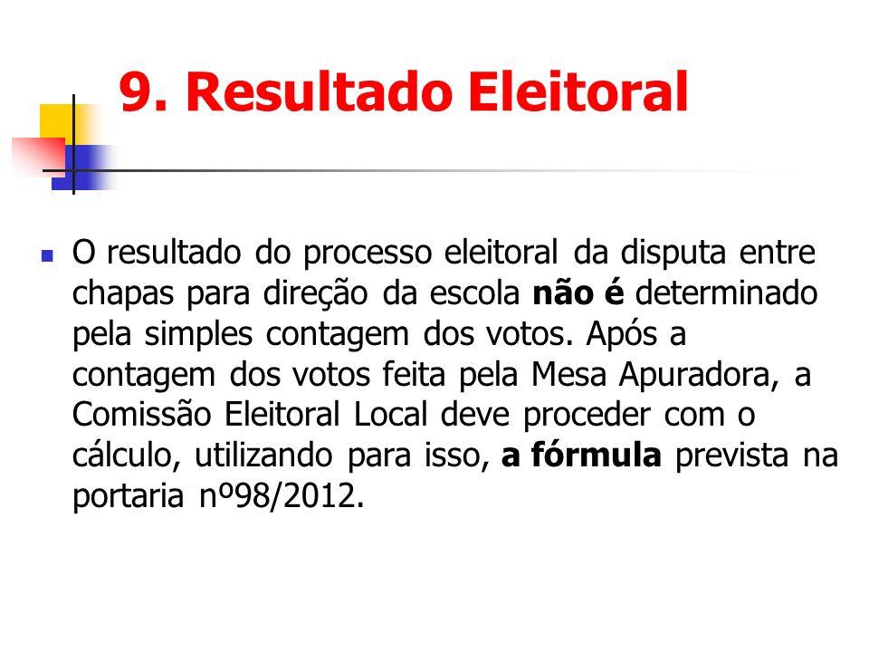 9. Resultado Eleitoral