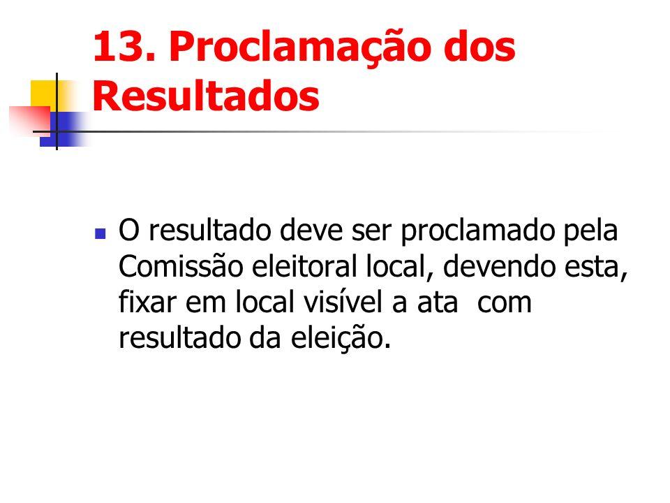 13. Proclamação dos Resultados