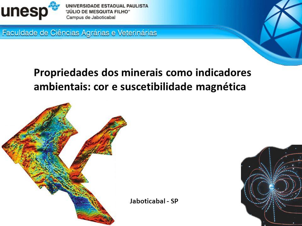 Propriedades dos minerais como indicadores ambientais: cor e suscetibilidade magnética