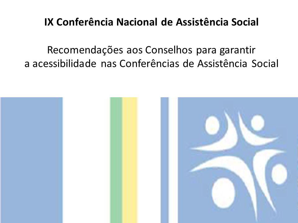 IX Conferência Nacional de Assistência Social