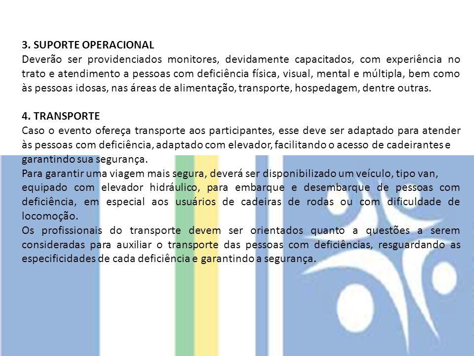 3. SUPORTE OPERACIONAL