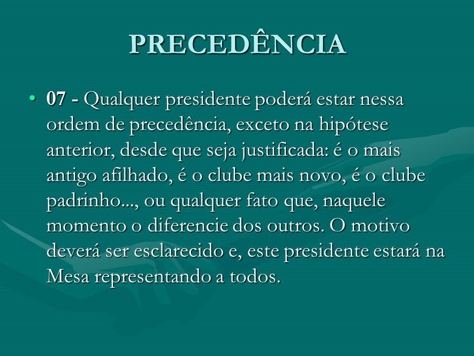 PRECEDÊNCIA