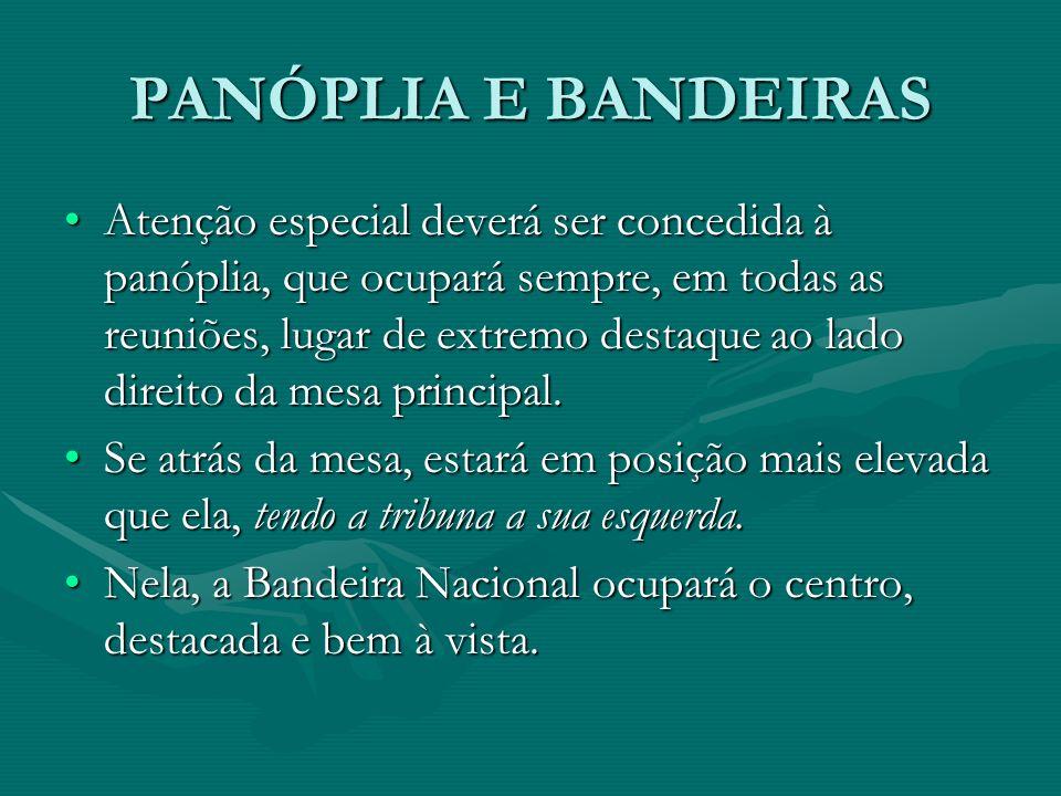 PANÓPLIA E BANDEIRAS