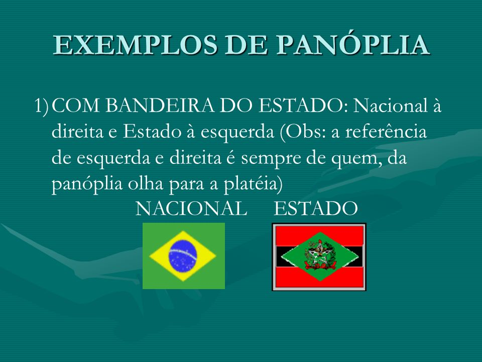 EXEMPLOS DE PANÓPLIA