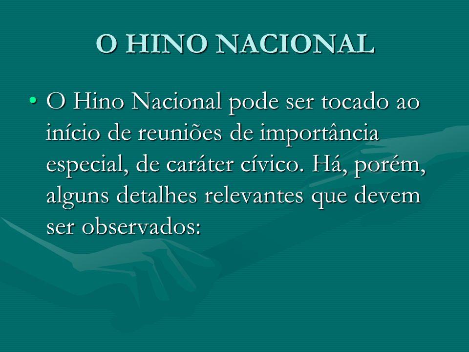 O HINO NACIONAL